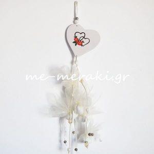 Μπομπονιέρα Γάμου Καρδιά Ζωγραφισμένη