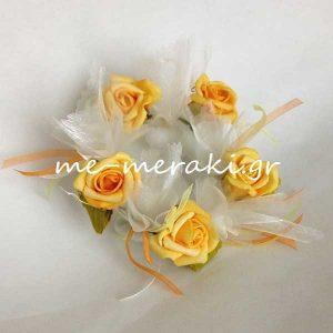 Μπομπονιέρα Γάμου Στεφανάκι Λουλούδια