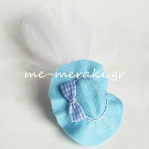 Μπομπονιέρα Βάπτισης Καπέλο Αγόρι