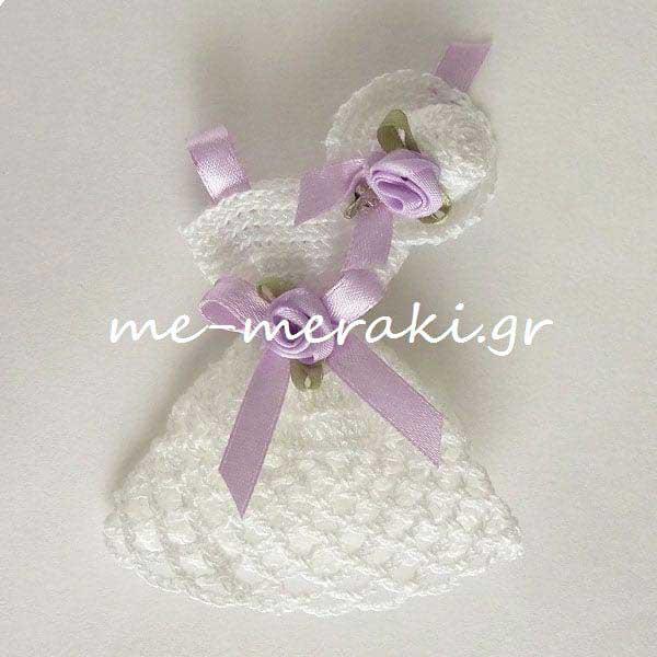bc2702e5b9e Μπομπονιέρα Βάπτισης Φόρεμα Πλεκτό   Μπομπονιέρες   me-meraki.gr