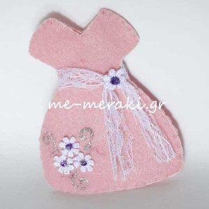 Μπομπονιέρα Φόρεμα Τσόχα Μαργαρίτες