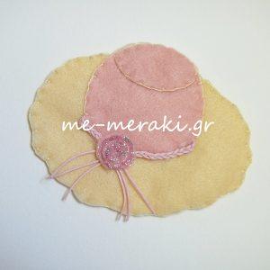 Μπομπονιέρα Βάπτισης Καπέλο ΥΦ052-Β