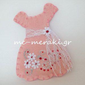Μπομπονιέρες Βάπτισης Φόρεμα ΥΦ075
